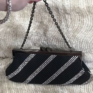 NWOT Whiting & Davis Black Mesh Clutch